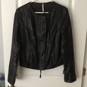 Free people faux leather coat